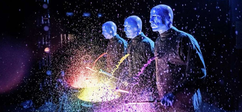 Blue Man Group at the Luxor Hotel